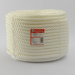 WHITE BRAIDED POLYPROPYLENE COIL (4 Ends) 16 mm Ø
