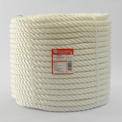 WHITE BRAIDED POLYPROPYLENE COIL (4 Ends) 18 mm Ø
