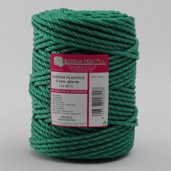 BOBINA CUERDA PLASTICO (4 cabos) 5 mm Ø Verde