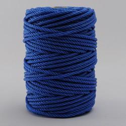 BOBINA CUERDA PLASTICO (4 cabos) 4 mm Ø Azul