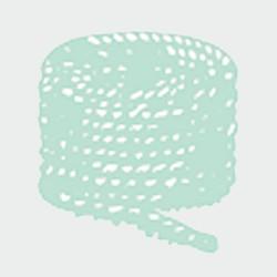 PLASTIC ROPE REEL (4 ends) 5 mm Ø Grey