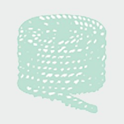 PLASTIC ROPE REEL (4 ends) 6 mm Ø Grey