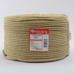 BRAIDED HEMP ROPE COIL (4 ends) 6 mm Ø