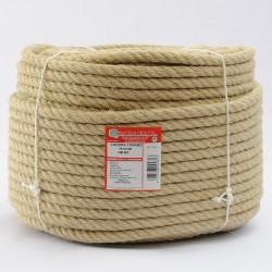BRAIDED HEMP ROPE COIL (4 ends) 14 mm Ø