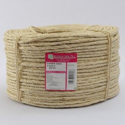 BRAIDED SISAL ROPE COIL (4 ends) 6 mm Ø