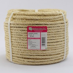 BRAIDED SISAL ROPE COIL (4 ends) 8 mm Ø