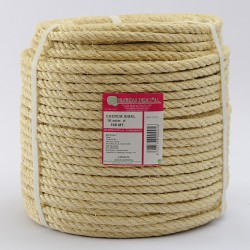 BRAIDED SISAL ROPE COIL (4 ends) 10 mm Ø