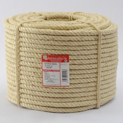 BRAIDED SISAL ROPE COIL (4 ends) 12 mm Ø