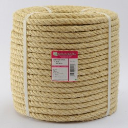 BRAIDED SISAL ROPE COIL (4 ends) 14 mm Ø
