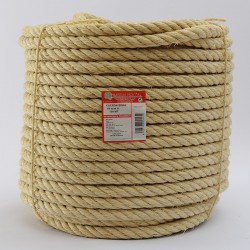 BRAIDED SISAL ROPE COIL (4 ends) 18 mm Ø