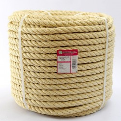 BRAIDED SISAL ROPE COIL (4 ends) 20 mm Ø