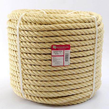ROLLO CUERDA SISAL CABLEADA (4 cabos) 20 mm Ø