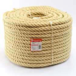 BRAIDED SISAL ROPE COIL (4 ends) 22 mm Ø