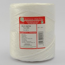 SYNTHETIC RAFFIA STRING REEL 600-1e/-White 730/750 grs aprox.
